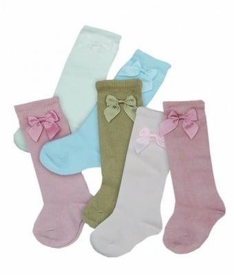 Дълги чорапи с панделка