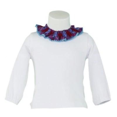 Блузка с набори на деколтето