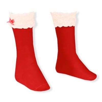 Дълги чорапи с дантелка