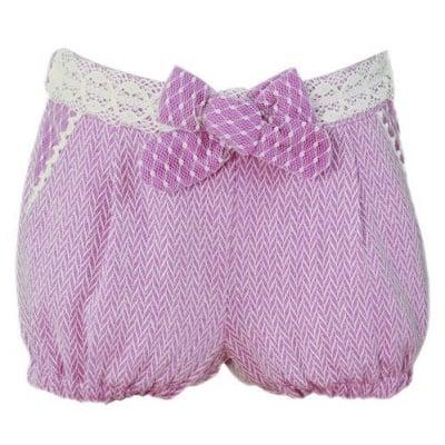 Къси панталонки с бродерии