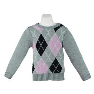 Пуловер с ромбоиди