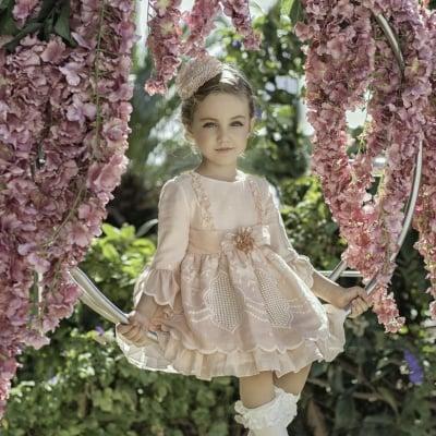 Официална рокля в нежно розово